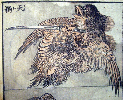 Drawing of a Tengu Hokusai